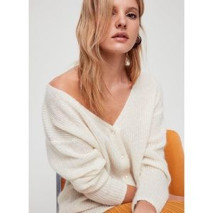 WILFRED   XS FRONT TO BACK WOOL CARDIGAN ARITZIA